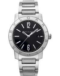 BVLGARI - Stainless Steel Automatic Watch - For Men - Lyst