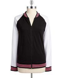 Jones New York Colorblock Baseball Jacket black - Lyst