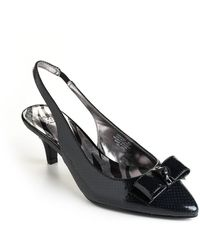 Anne Klein Rexana Leather Sling-Back Pumps - Lyst