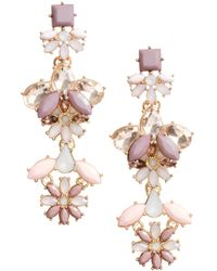 H&M Sparkly Earrings pink - Lyst