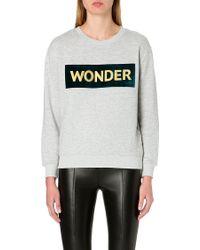 Sandro Cotton Jersey Sweatshirt - Lyst