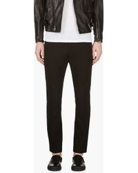 Diesel Black Slim Cropped Trousers - Lyst