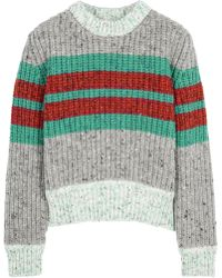 Jonathan Saunders Leona Striped Wool Blend Jumper - Lyst