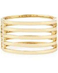 Kenneth Jay Lane 22K Gold-Plated 5-Row Cuff Bracelet - Lyst