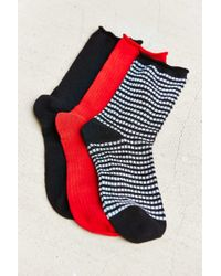 Urban Outfitters - Striped And Solid Socks 3-pack - Lyst