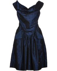 Vivienne Westwood Anglomania Blue Short Dress - Lyst