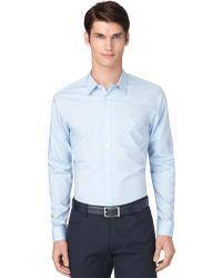 Calvin Klein Regular Fit Fine Line Dobby Shirt - Lyst