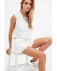 Somedays Lovin - Pitstop Broderie Shorts In White - Lyst