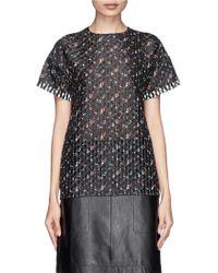 Victoria Beckham Floral Organza Oversize T-Shirt - Lyst