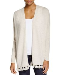Moon & Meadow | Pom Pom Trim Cashmere Cardigan | Lyst