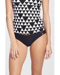 Seafolly Costa Maya Hipster Bikini Bottoms black - Lyst