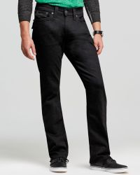 True Religion Jeans Ricky Straight Fit in Black Midnight - Lyst