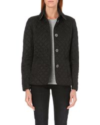 Burberry Copford Short Quilted Coat Black - Lyst