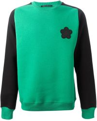 Christopher Kane Contrast Sleeves Sweatshirt - Lyst