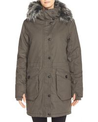 Bench - 'wolfish Ii' Water Resistant Parka With Faux Fur Trim - Lyst