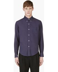 Band Of Outsiders Navy Classic Shirt - Lyst
