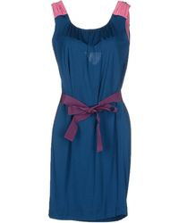 Philosophy di Alberta Ferretti Knee-Length Dress blue - Lyst