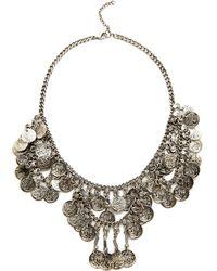 Raga - Coin Necklace - Silver - Lyst