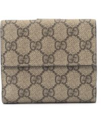 Gucci Beige Coated Canvas Wallet - Lyst