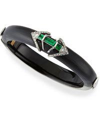 Alexis Bittar Lucite Hinge Bracelet with Emerald-tone Baguettes - Lyst