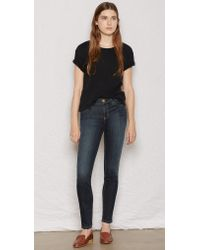 Current/Elliott The Ankle Skinny blue - Lyst