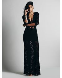 Free People Cutout Maxi Dress - Lyst