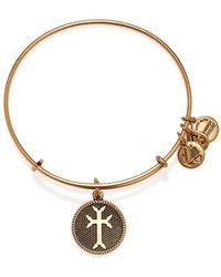 ALEX AND ANI Armenian Cross Ii Expandable Wire Bangle - Lyst