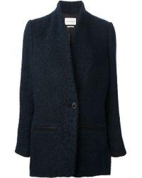 Etoile Isabel Marant Blue Tweed Jacket - Lyst