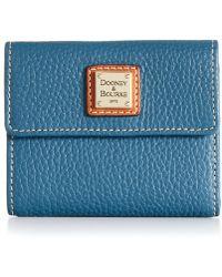 Dooney & Bourke Pebble Small Flap Wallet - Lyst