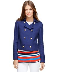 Brooks Brothers Double-breasted Cotton Pea Coat - Lyst
