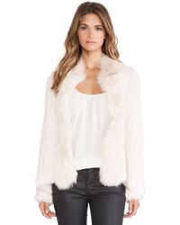 Elizabeth And James Bianca Rabbit and Coyote Fur Jacket - Lyst
