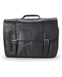 Kenneth Cole - Black Look The Port Laptop Briefcase - Lyst