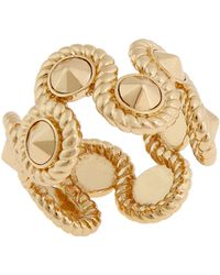 Rachel Zoe 12K Gold Plated Rope Ring gold - Lyst