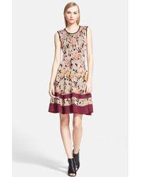 Missoni Lame Rose Jacquard Knit Dress - Lyst