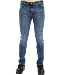 Mauro Grifoni Jay 18Cm Bottom Denim Slim Jeans blue - Lyst
