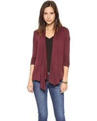 Three Dots Button Cowl Cardigan Willow Port - Lyst
