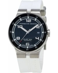 Porsche Design - Flat Six Chronograph Watch W/ Rubber Strap - Lyst
