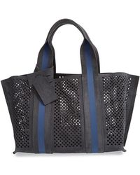 Pedro Garcia 'Perforated Tape' Suede Tote - Lyst