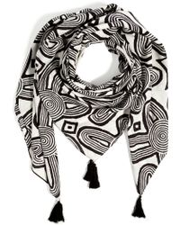 By Malene Birger Cotton Printed Scarf - Lyst