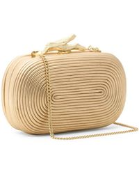 Diane Von Furstenberg Lytton Coil Leather Clutch - Lyst
