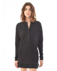 Alternative Apparel Brushed Eco-Jersey Henley Dress - Lyst