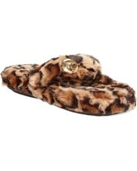 Michael Kors Michael Jet Set Mk Faux-Fur Thong Slippers - Lyst