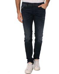 Diesel Sleenker Worn Blue Slim-Fit Jeans - Lyst