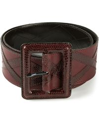 Yves Saint Laurent Vintage Paneled Belt - Lyst