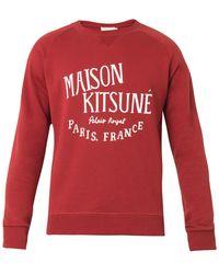 Maison Kitsuné Palais Royal-print Cotton Sweatshirt - Lyst