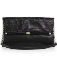 Diane von Furstenberg 440 Large Crocodile-Embossed Shoulder Bag - Lyst