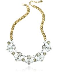 Juicy Couture Crystal And Golden Metal Necklace - Metallic