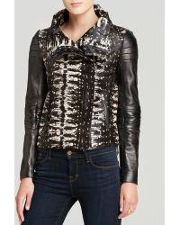 Diane Von Furstenberg Short Calf Hair Leather Jacket   - Lyst