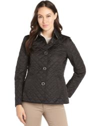 Burberry Brit Black Diamond Quilted Button Front Copford Jacket - Lyst