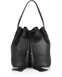 Gucci Lady Tassel Textured-leather Bucket Bag - Lyst